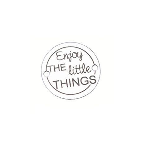 Bratara Enjoy the Little Things, banut Argint 925, snur negru