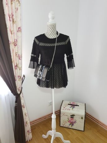 Bluză + geantă (Zara +Pimkie)