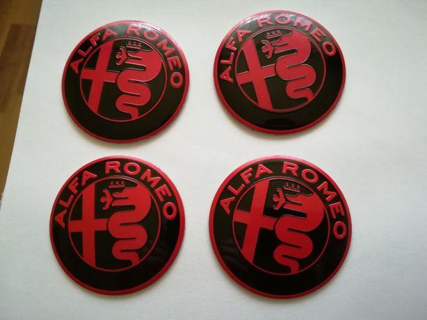 Set Embleme/Stickere roți/jante Alfa Romeo diametrul 56 mm (5,6 cm)