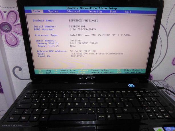 Dezmembrez laptop Fujitsu AH531, functional