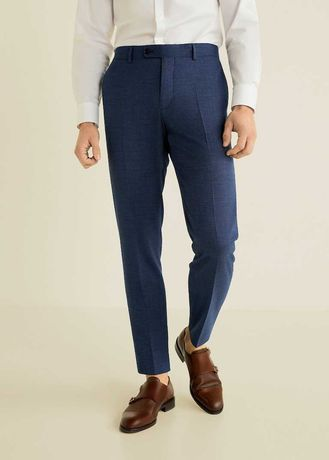 Pantaloni de costum, slim fit, barbati - Mango