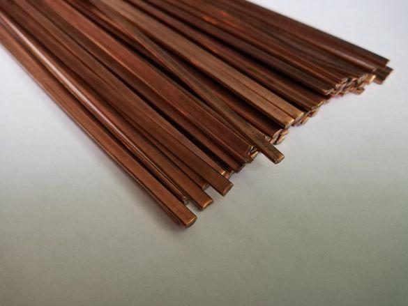 Припой медно-фосфорен плосък 1.3x3.2x500мм,необмазан с флюс