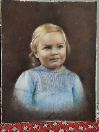 Tablou vechi fetita