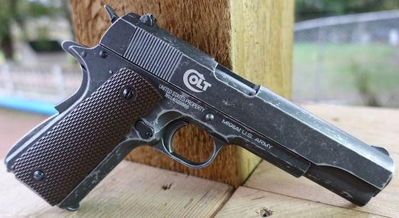 Pistol Cu Aer Comprimat MODIFICAT Full Metal Co2 COLT PUTERNIC!!