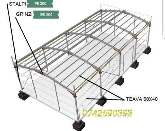 Vând hală metalică 12x 30x4,5 m plus containere șantier locui