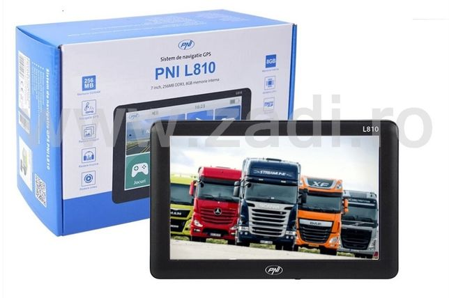 """Sistem portabil de navigatie - ecran 18cm/7"""" ( pni l807/L810)-cu harti"""