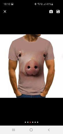 Tricouri bărbătești diverse imprimeuri 3d print porc M