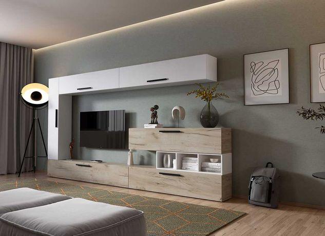 1169 lei - Living Pati 012 - Mobila Sufragerie Stejar + Alb