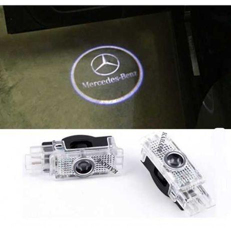 Proiectoare Logo Mercedes Portiera  Led Laser emblema sigla Holog