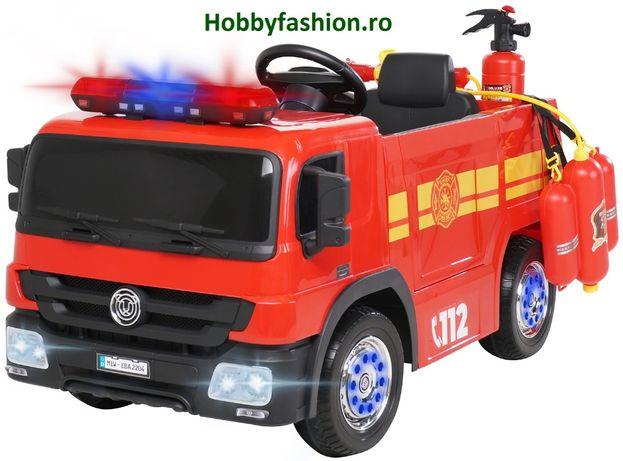 Masinuta electriaca, Pentru copii, Camionetă, Pompieri, SX1818 Rosie