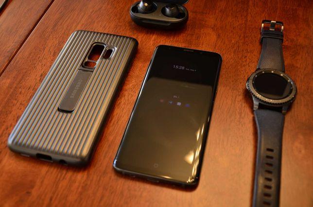 Комплект телефон Galaxy S9+ 64gb часы gear s3 frontier наушники buds