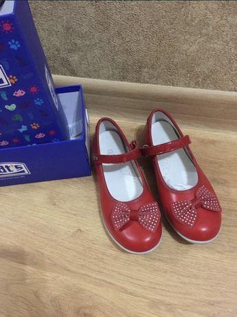 Туфли красные детские в коробке 35р. С доставкой