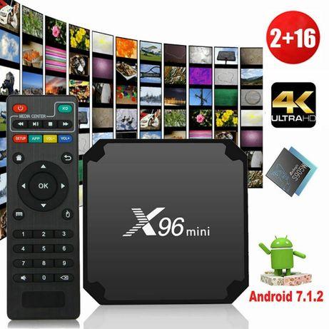 500 тв бокс X96 2/16 Android 8.1 Smart TV Box S905W 4K Quad Core H.26