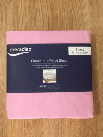 Husa pat roz cu elastic Meradiso