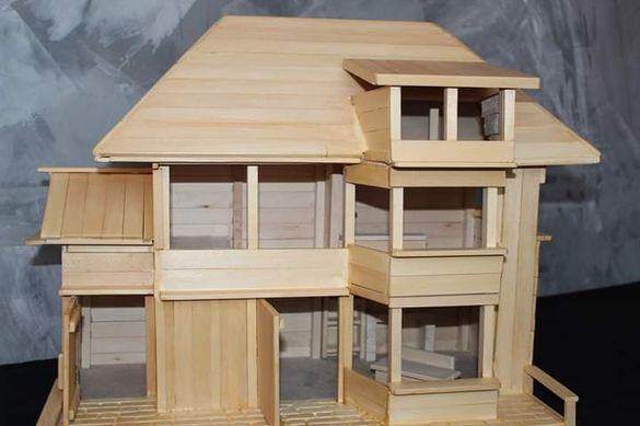Дървена къщичка ръчна изработка