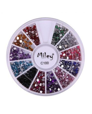 Комплекти кристални камъчета за декорация на маникюр - 12 цвята