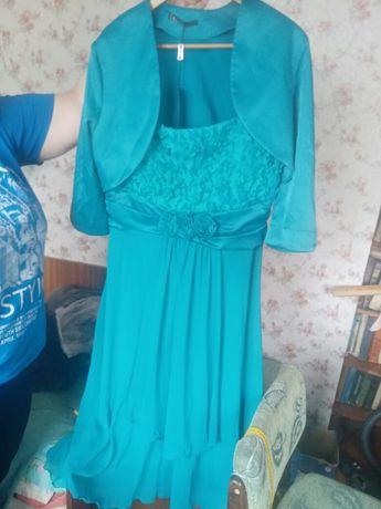 Вечернее платье с болеро 56 размер