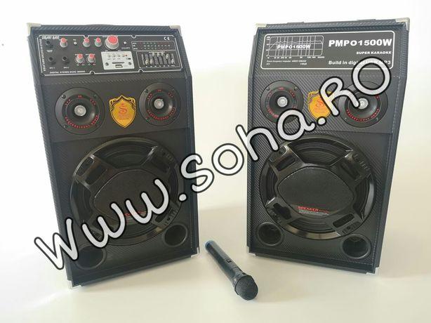 Boxe active cu microfon si telecomanda DP - 284 Smart Bass Reflex
