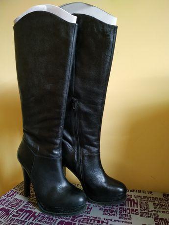 Дамски ботуши с висок ток, ниски ботуши, естествена кожа, велур