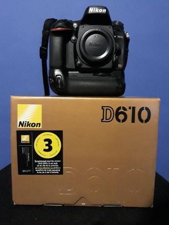 Nikon D610 cu grip - stare foarte buna
