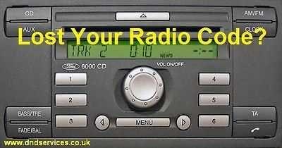 Разкодиране на всички CD/DVD аудио системи за всички модели на FORD