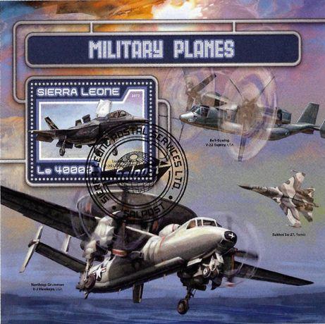 Super timbre colita stampilata tematica AVIOANE militare