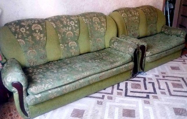 Диван-кровать. софа-кровать, кресло-кровать, продается комплект.