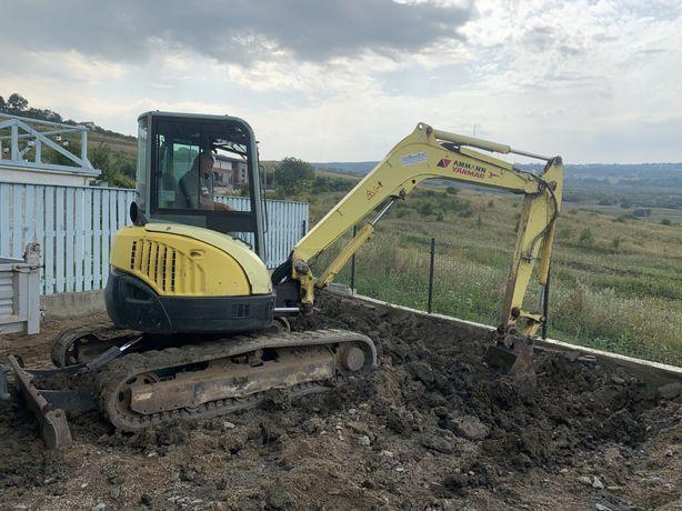 Inchiriez excavator miniexcavator si transport basculabil