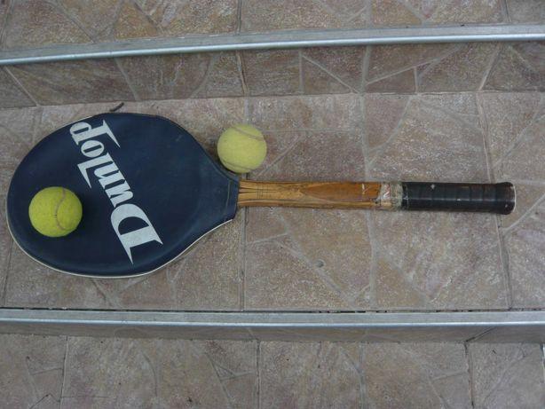 Racheta tenis de colectie Dunlop vintage cu husa originala an 1968