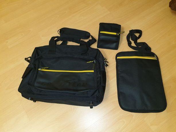 Geanta laptop Good Year set cu geanta tableta si portofel NOI