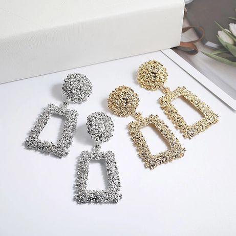 Cercei Vintage aurii argintii stil rotunzi masivi Zara