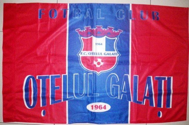Steag fotbal Otelul Galati, panza groasa, 90x58 cm