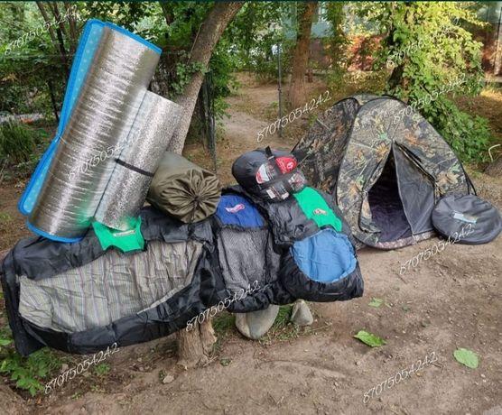 Палатки, кариматы, спальные мешки