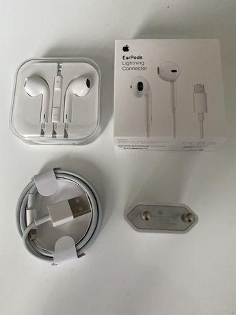 Pachet Accesorii Incarcator Cablu Usb Casti Originale - Iphone