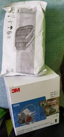 Masca de protectie 3M + filtre ,praf fum gaze chimicale lacuri vopsele