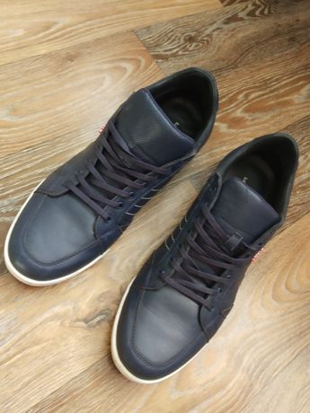 Мужские кожаные кроссовки 45 размер