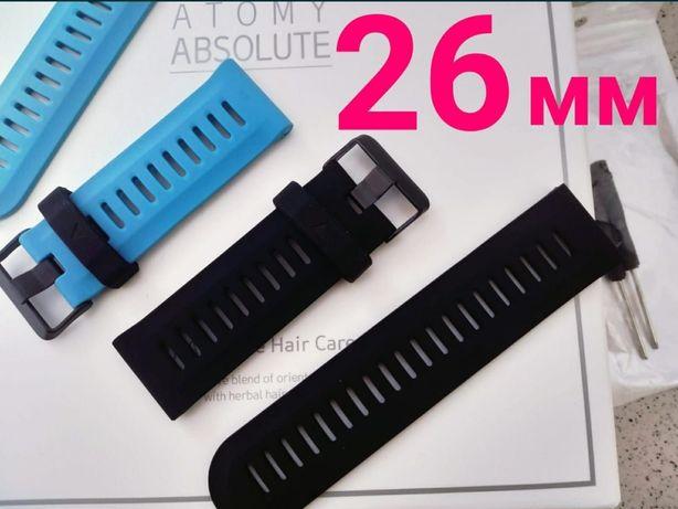 Силиконовый ремешок для часов Garmin Fenix Diesel 26 размер + Отвертка