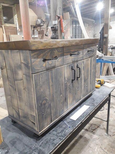 Шкаф за баня сиво протрито