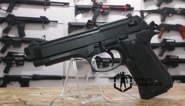 Pistol Airsoft Beretta Co2 Metalic Blowback Full Metal + co2 si bile