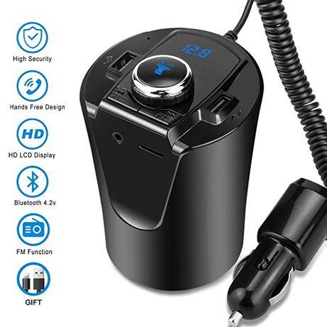 Modulator FM Bluetooth MP3 USB Handsfree si incarcator auto