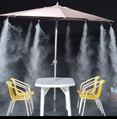 Racire ceata15m 15 duze umidificare perdea apa vapori racire terasa