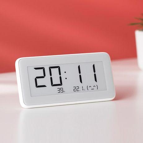 Xiaomi Mijia , E-ink. Часы с датчиком температуры и влажности