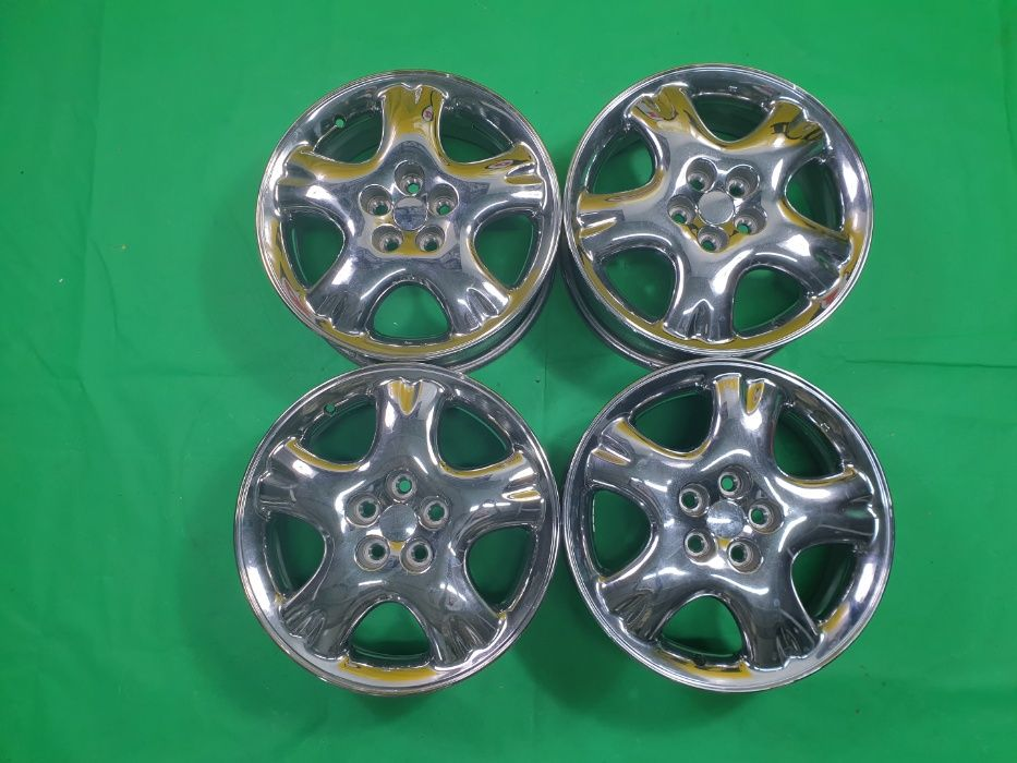 4 Jante Aliaj - 5x100 16 '' 6J ET 40 VW AUDI SKODA SEAT CHROME ! Bucuresti - imagine 1