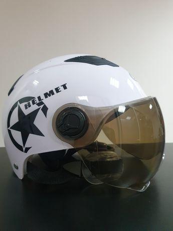 Новый мотошлем каска для мопедов новая скутер самокат шлем мопед
