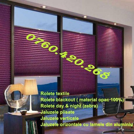 Rolete textile, jaluzele plisate, rolete zebra