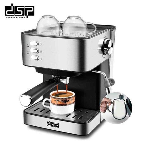 Кофемашина полуавтоматическая рожковая DSP KA3028 Кофеварка Espresso