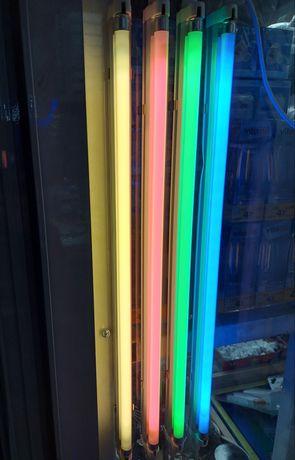 Неоновые светильники для фотографии (фото) синий, зеленый, розовый.