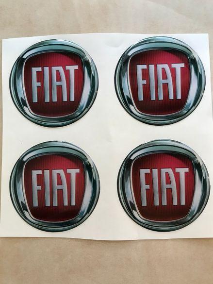 силиконови стикери за капачки на джанти ФИАТ/FIAT размери 40мм до 90мм