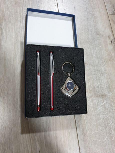 Quartz Set breloc ceas + stilou si pix, ideal pentru cadou;