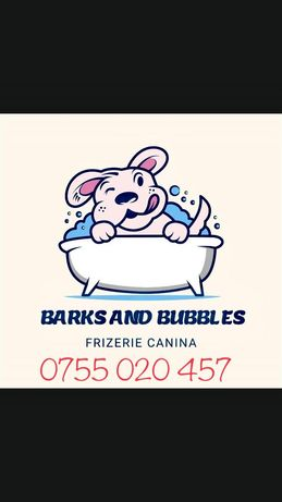 """Frizerie Canină """"Barks and Bubbles"""""""
